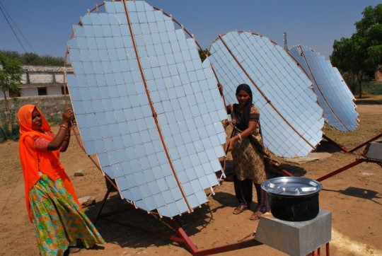 Solar Cooker developed by women of Barefoot College