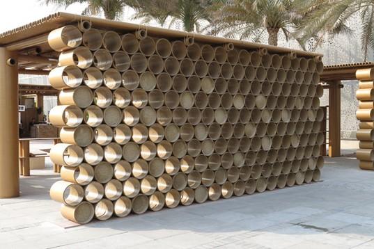 Shigeru-Ban-Cardboard-Pavilion-Abu-Dhabi-Art-Design-Souq-3-537x358