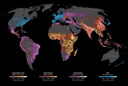 が 人口 国 密度 高い