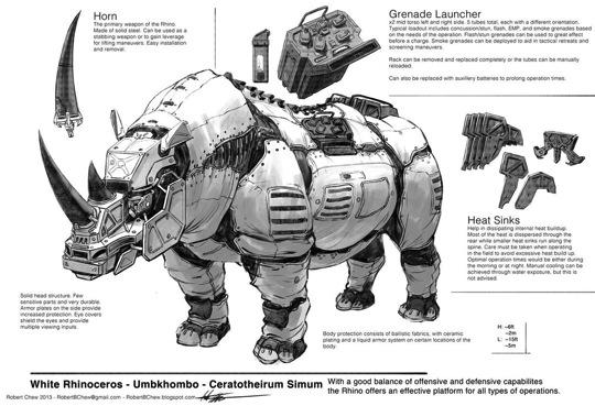 Big five rhino breakdown by crazyasian1 d6j1mue