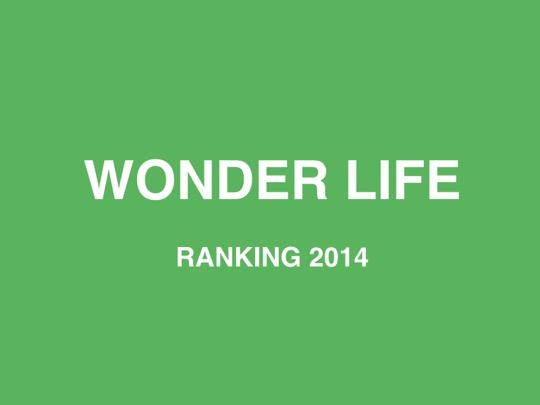Wonder life ranking2014