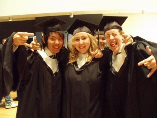 カナダの高校の卒業式