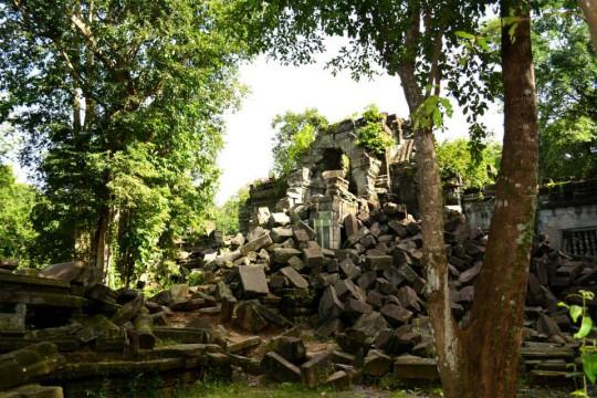 カンボジアの遺跡