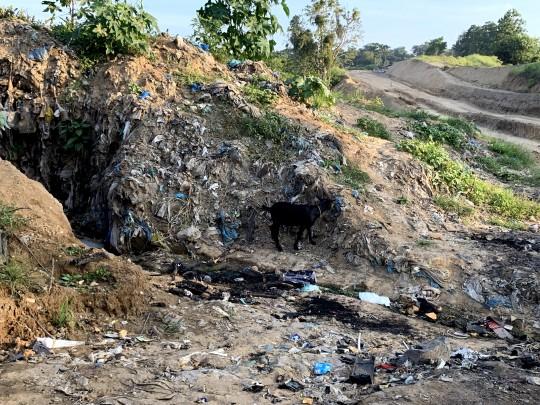 ゴミ山で暮らす人も